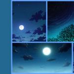 夜空(星空)の描き方【デジタルイラスト背景講座】