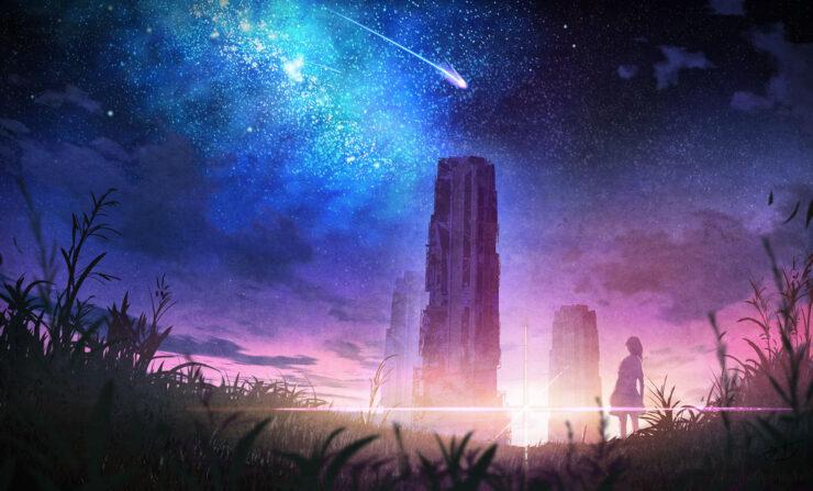 夕刻の彗星