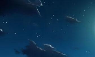 夜空の時の星