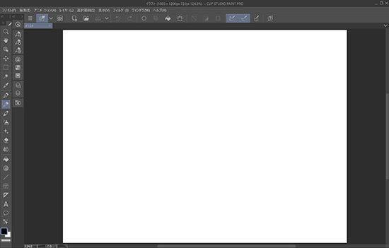 CLIP STUDIO PAINTキャンバス画面