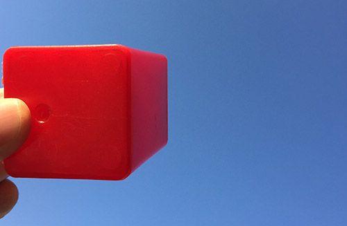 空に向けた1点透視