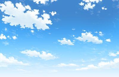 背景事典の青空と雲