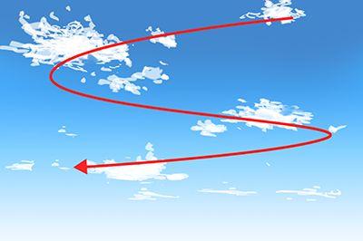 雲をS字配置する