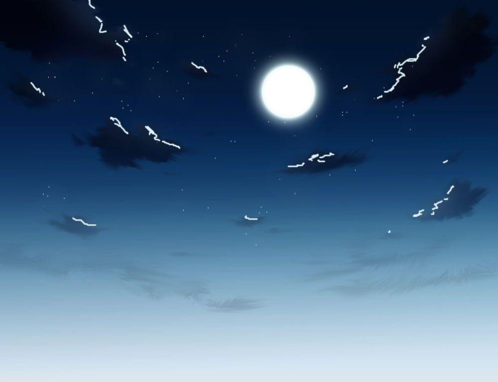 月に照らされた雲