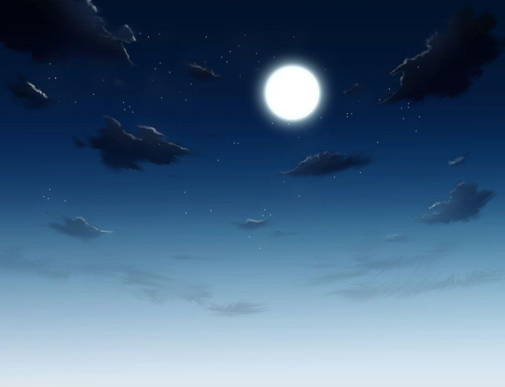 月夜の描き方