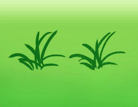 テクスチャを加えた草