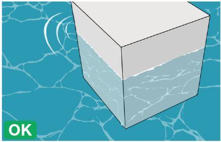 水面の模様と水面の波紋OK