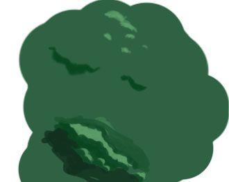 山の塗り方
