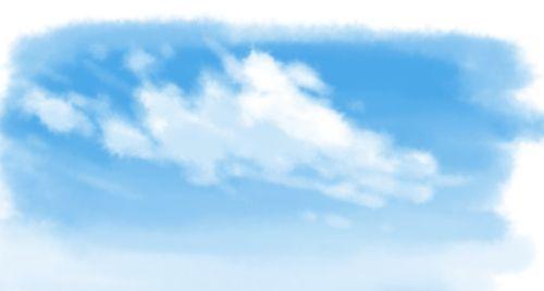 カスタム筆ブラシ雲